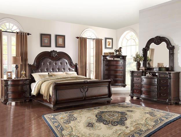 Leather Upholstered Bedroom Set Beds To Go