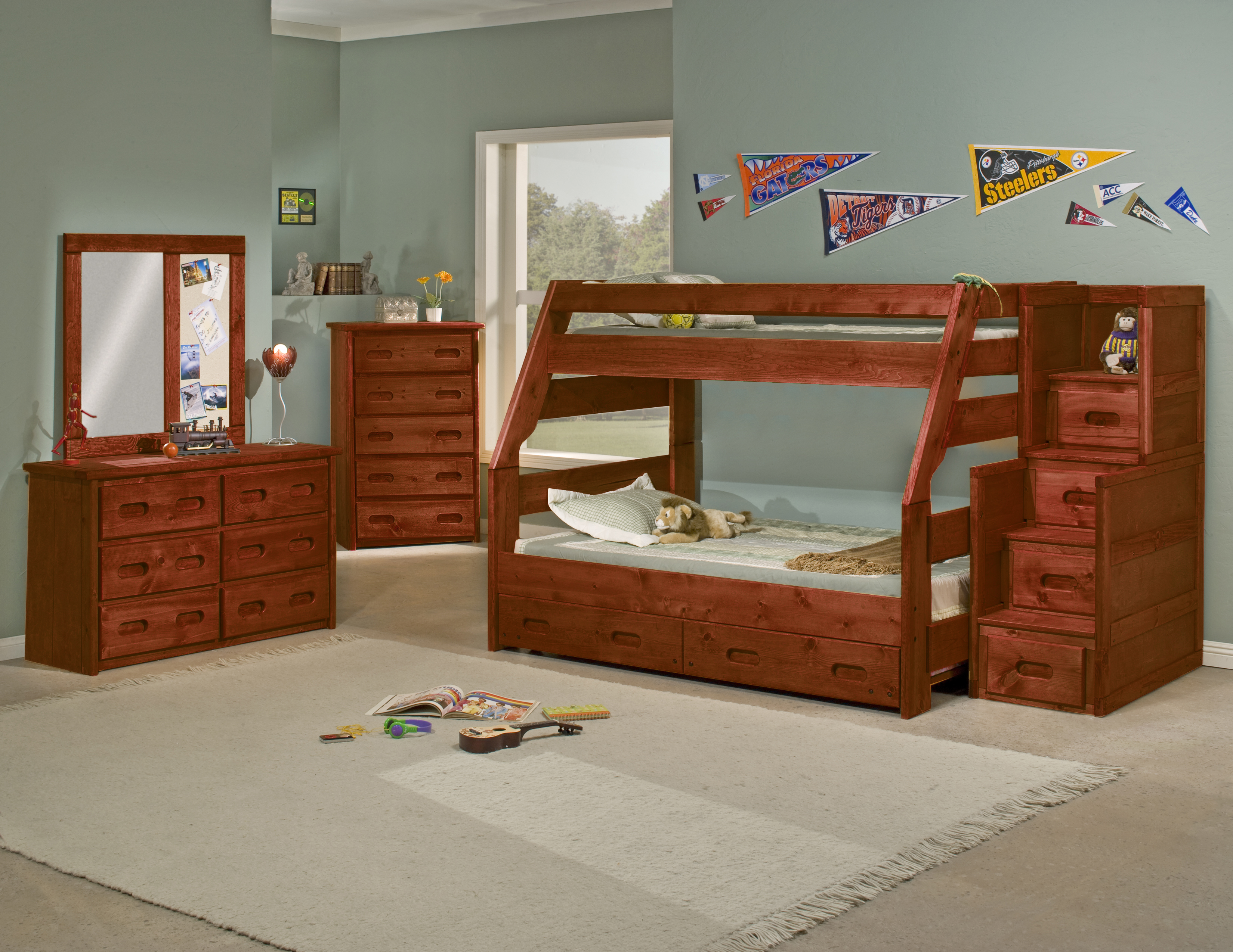 Picture of: Twin Over Full Solid Wood Bunk Bed Beds To Go